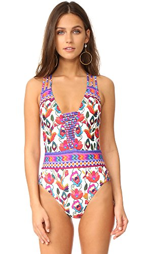Nanette Lepore Women's Antigua Goddess Strappy One Piece Swimsuit, Multi, M