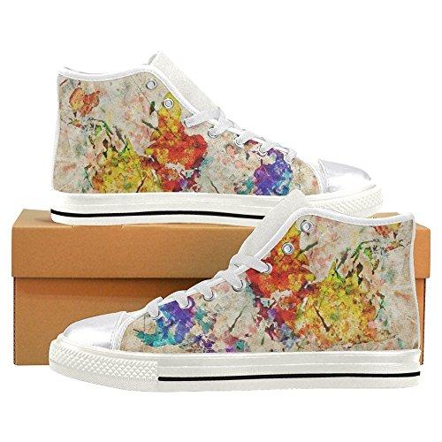... Interestprint Femmes Haut Haut Classique Casual Toile Chaussures De  Mode Formateurs Sneakers Coloré Gribouillis ... 16df9c1b22f3