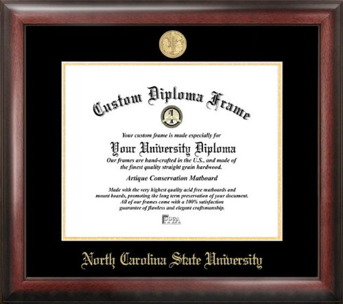North Carolina State University Gold Embossed Diploma Frame by Campus Images