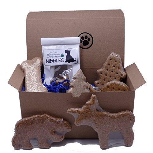 Dog Gift Box with Assorted Treats - Made in USA