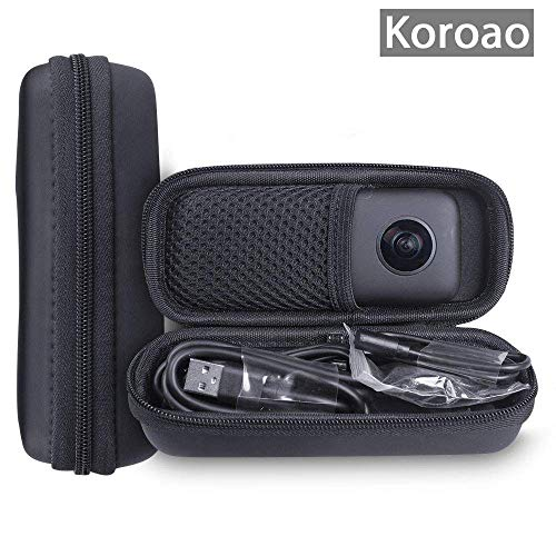 Koroao Hard Case Set for Insta360 ONE X 360 Camera Including Storage Bag and Strap Carabiner (Hard case)