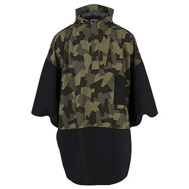 fc09f1704 AGU Urban Outdoor Poncho - Zwart/Camo - ONE Size: Amazon.co.uk: Clothing
