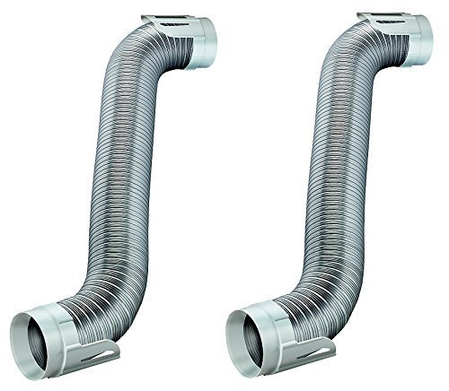 Deflecto Easy Connecting Dryer Vent Hook Up Kit, Flexible Semi-Rigid Aluminum Duct, (HUPK8WA/4) (Pack of 2) by Deflecto