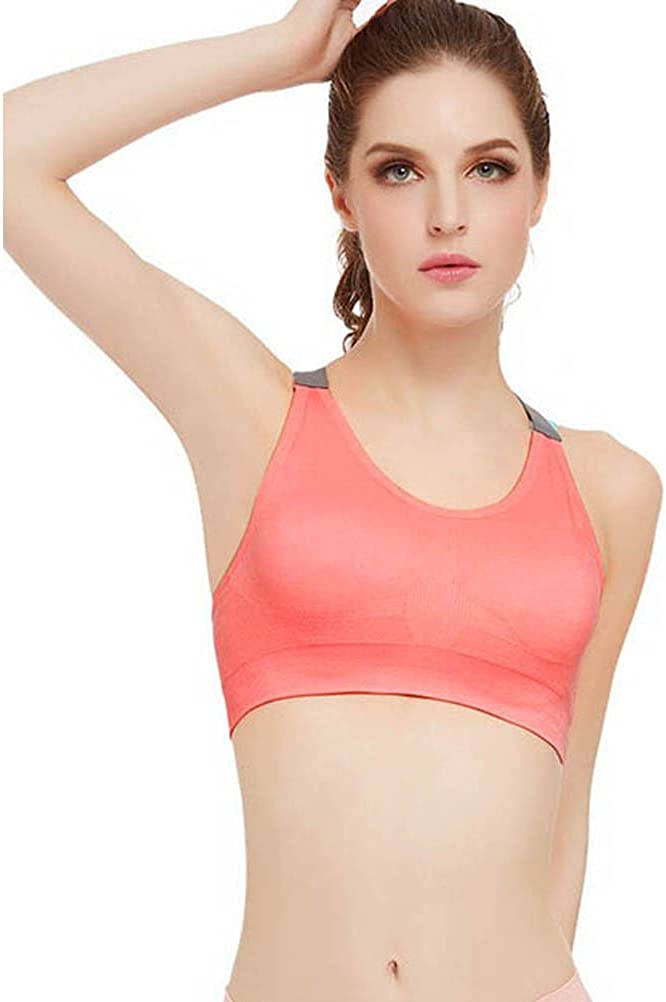 Redshop Women Comfortable Removable Sport Gym Yoga Workout Bra Running Padded Fitness Tops Vest