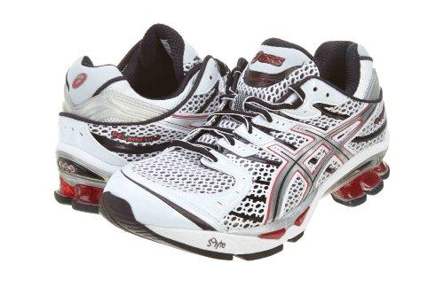 ASICS Men's GEL-Kinetic 4 T133N.0193 Running Shoe,White/Lightning/Flame,8 M - Kinetic Running