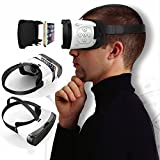 3D Virtual Reality Headset, Tsanglight 3D VR Glasses Viewer + Video Remote Control [Bluetooth] for IOS iPhone 7/7 Plus/6/6S/6S Plus, Android Samsung Galaxy S7 Edge S7/S6/S5 & Other 4.7-5.5