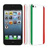 Apple iPhone 5c Ultra Slim Light Weight Clear Plastic Cover Case By SkinGuardz - Italian Flag