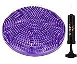 "Wacces Athletic Inflatable Twist Massage Balance Board, 13"", Purple"