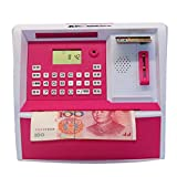 CFZHANG Piggy Bank Cash Coin Electronic Voice Prompt Money Bank Safe Can Password Saving Box ATM Bank Safe Locks Smart Piggy Box For Children/Christmas Gift, Pink
