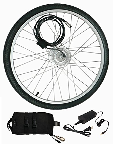 Electric Bike Kit / Electric Tricycle Kit Clean Republic Hill Topper, Lithium Battery Included 5 min Easy Installation Made in US (26″ Wheel + 20 Mile Range Battery)