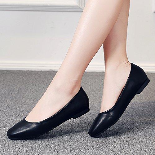 Fiesta Como Zapatos GAOLIM Trabajo Negro Trabajo El De De Tan Mujer Baja Nivel Negro Zapatos Profesional De Verano La De Cabeza Zapatos Los De vqqdxrZ
