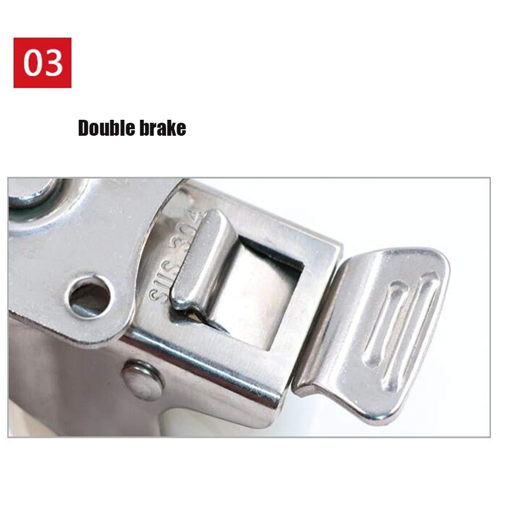 rost Unbekannt 4er Pack 1,5// 2 Wei/ß 304 Edelstahlrollen Universal-Rad-Flachrollen Wasserdicht und korrosionsbest/ändig