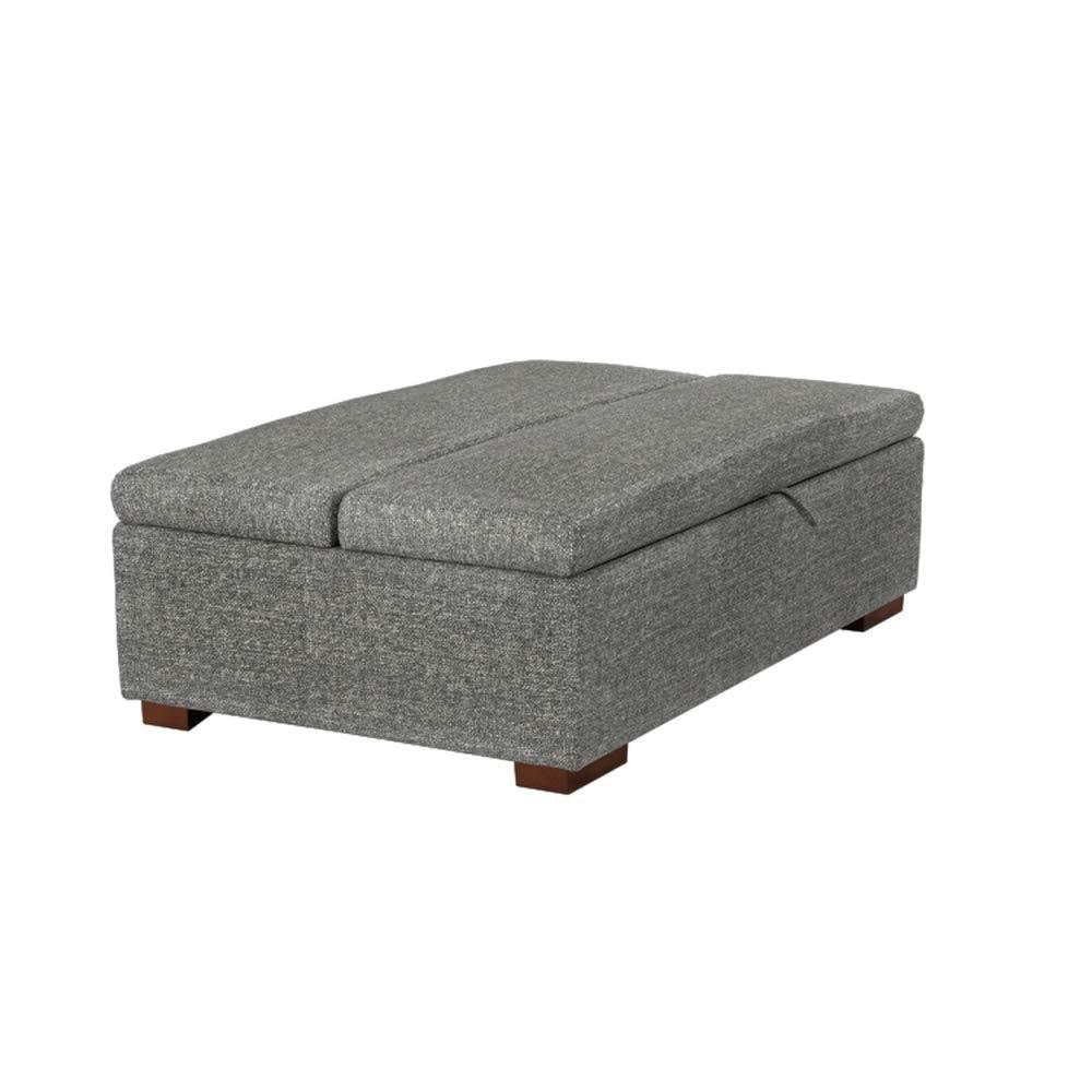 Rivet colore grigio chiaro larghezza 122 cm stile moderno ottomana a divano-letto
