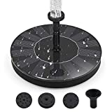 Y- STOP Solar Bird Bath Fountain Pump Solar Fountain - Outdoor Watering BirdBath Submersible Pump for Garden and Patio - Free Standing Water Fountain Pump Kit