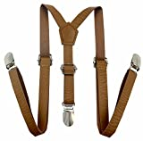 Apelna Skinny Leather Suspenders for Baby, Toddler, Children, Kids