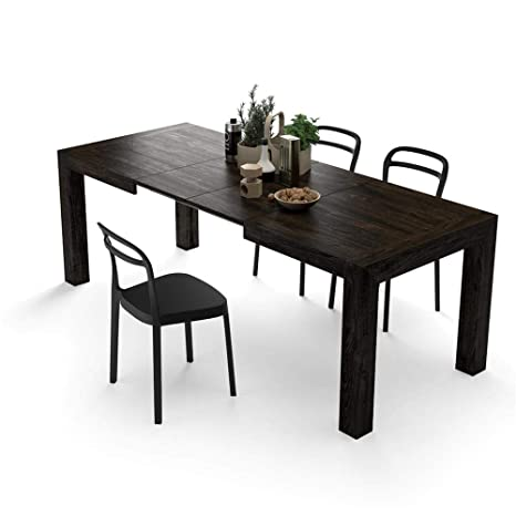 90 Brown140 CmMélaminéMade Italy In X CuisineIacopoChêne Mobili 77 Extensible FiverTable c4S3Ajq5RL
