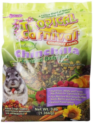 F.M.Brown's Tropical Carnival Natural Chinchilla Food, 3-Pound Package