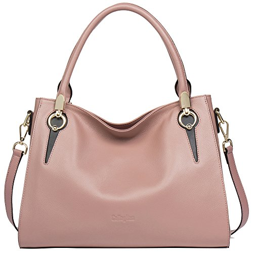 CLEARANCE Women's Genuine Leather Top Handle Handbags Tote Purse Shoulder Crossbody Bag