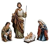 Roman - 18'' 4PC SET HOLY FAMILY W/SHEP HERD/SHEEP FIG
