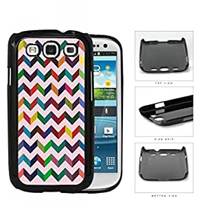 3 Dimensional Chevron In Multiple Colors Hard Plastic Snap On Cell Phone Case Samsung Galaxy S3 SIII I9300