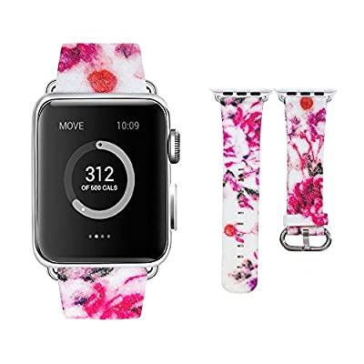 Moonooda Compatible with iWatch Bands Women 38mm 40mm 42mm 44mm, Shiny Bling Glitter Strap Replacement Bands Applicable for iWatch Series 5 4 3 2 1