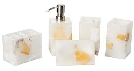 aimone bathroom accessories set 5 piece bath ensemble bath decor features soap dispenser