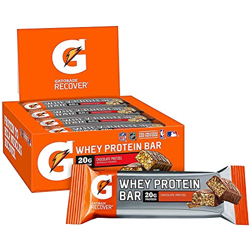 (Gatorade Whey Protein Recover Bars, Chocolate Pretzel, 2.8 ounce bars (12 Count))