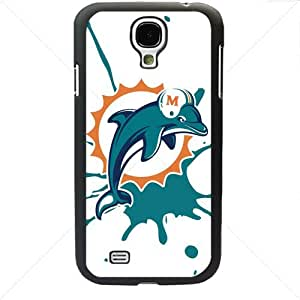 NFL American football Miami Dolphins Fans Samsung Galaxy S4 SIV I9500 TPU Soft Black or White case (Black)