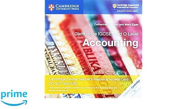 Cambridge IGCSE And O Level Accounting Cambridge Elevate
