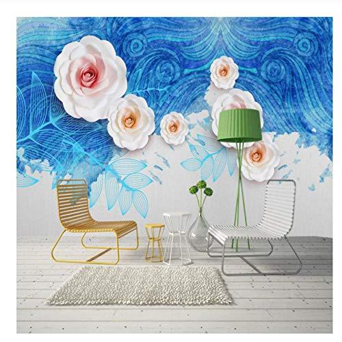 Yxjj1 Photo Wallpaper Desktop Wallpaper 3D Home Wallpaper Hd Home Decor Bedroom Flower Wall Mural Blue Wall Art Room Decor Custom 300cm (W) 200cm(H)