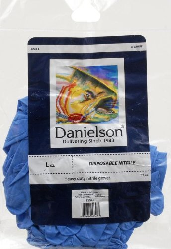 Danielson Nitrile Industrial Gloves, Blue, Large