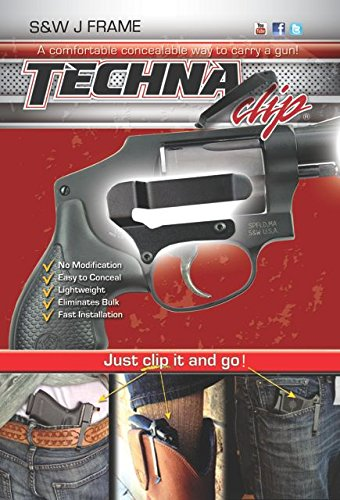 Techna Clip - Smith & Wesson J-Frame Models - Conceal Carry Belt Clip (Right-Side)
