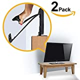 Baby : Ella's FURNITURE STRAP, Heavy Duty TV Straps, No Plastic Parts, Anti Tip Earthquake Resistant Furniture Anchor, Best Wall Anchors, TV Anchor for Children, Child & Baby Proof, Black (2 Pack)