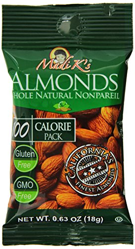 Madi K's Almonds, Whole Natural Nonpareil, 31 Count (Pack of 31) ()