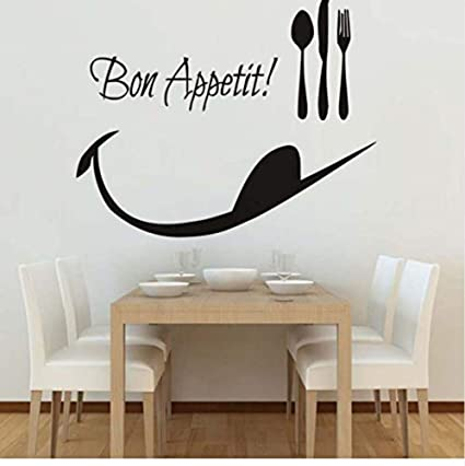 Bon Appetit Pegatinas De Pared De Dibujos Animados Cocina
