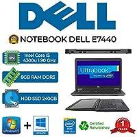 Ordenador portátil Dell E7440 Core I5 4300U/8GB/SSD 240GB/WEB/WIN 10 Pro (reacondicionado)