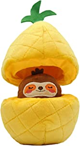 HugSmart Pet -Fruity Critterz | Squeaky Hide and Seek Plush Dog Toys | 2-in -1 Cute Interactive Plush Puzzle Toys for Small Medium Dogs