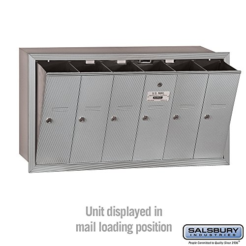 Salsbury Industries 3506ARU Recessed Mounted Vertical Mailbox with 6 Doors and USPS Access, Aluminum by Salsbury Industries (Image #2)