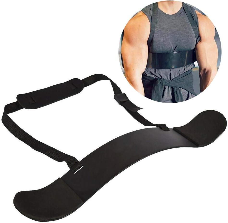 ZAK168 Arm Blaster – Bizeps Curl Bomber Ajustable con Placa Fija – Brazo Blaster Muscle Builder – Ideal para Culturismo, Entrenamiento de Fuerza y Extensiones de bíceps, Negro, Tamaño Libre