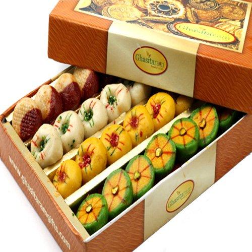 Ghasitaram Gifts Sugarfree Assorted Mithai Box 400 GMS