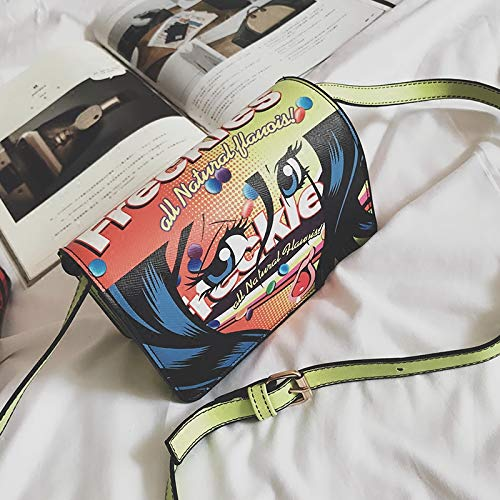 Crossbody Bag Bolso Damas Cuadrado Doodle De Wm Mini vITzfxqwTd