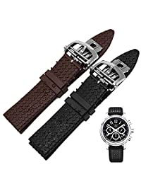 Memery Space Silicon Tire pattern Strap Chopard Replacement 23mm (Brown)