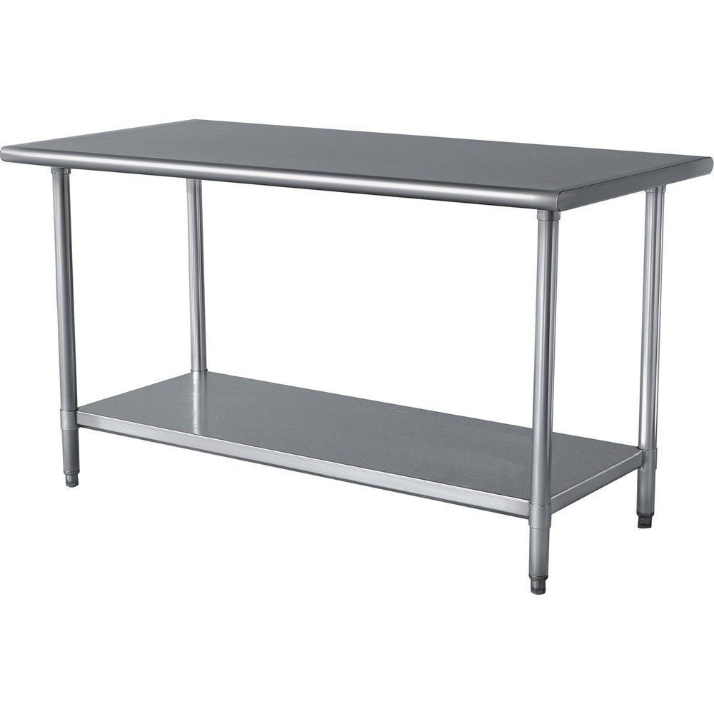 Amazoncom Stainless Steel Prep Work Table X NSF Heavy - Stainless steel work table with sink