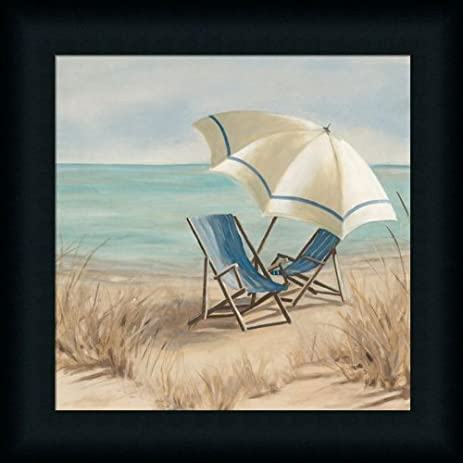 Superieur Summer Vacation II By Carol Robinson Adirondack Chair Beach Scene Art Print  Framed Picture