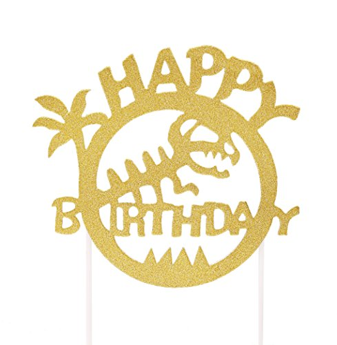 Dinosaur Birthday Cake Topper, Jurassic Park Birthday Party Decorations for Kids and Adult (Dinosaur Party Food)