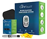 Care Touch Diabetes Testing Kit – Care Touch Blood Glucose Meter, 50 Blood Test Strips, 1 Lancing Device, 30 Gauge Lancets-100 Count