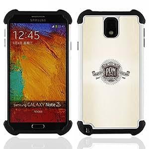 For Samsung Galaxy Note3 N9000 N9008V N9009 - P D M logo slogan shield retro plumbing Dual Layer caso de Shell HUELGA Impacto pata de cabra con im????genes gr????ficas Steam - Funny Shop -