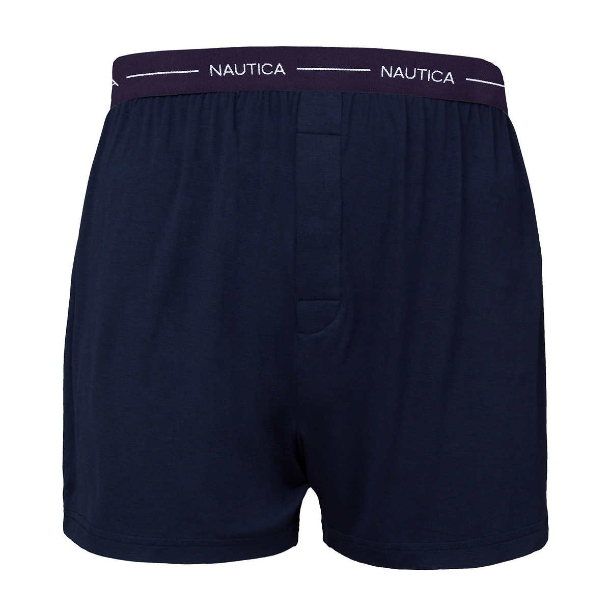 3 Pack Nautica Mens Boxer Modal Cotton Fit Boxer with Functional Fly Tagless