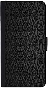 Snoogg Wallet Case Flip Case Sleeve Folio Book Cover with Credit Card Slots, Cash Pocket, Stand Holder, Magnetic Closure Black For BQ AQUARIS X5