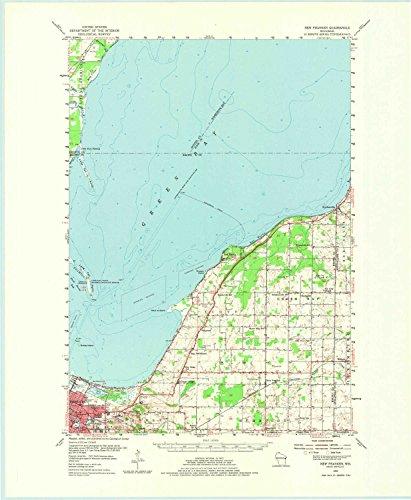 YellowMaps New Franken WI topo map, 1:62500 Scale, 15 X 15 Minute, Historical, 1954, Updated 1975, 22.2 x 18.2 in - ()